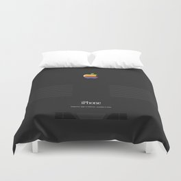 Luxury black vintage phone Duvet Cover