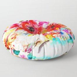 Watercolor garden II Floor Pillow