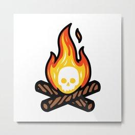 Skullfire Metal Print