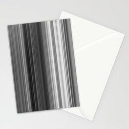 Black White Gray Thin Stripes Stationery Cards