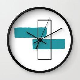Simple Geometric Shapes Wall Clock