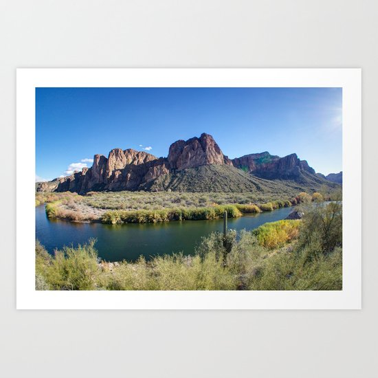 Salt River Art Print