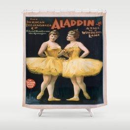 Vintage poster - Aladdin, Jr. Shower Curtain