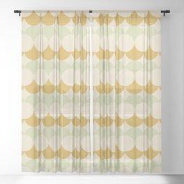 Retro Circular Pattern III Sheer Curtain