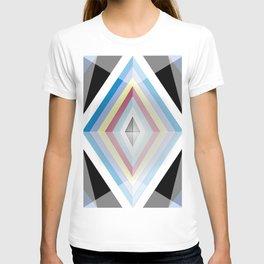 Muted tones geometric T-shirt