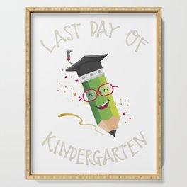 Last Day Of School Kindergarten Serving Tray