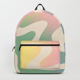 Simple Liquid Pattern Backpack