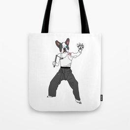 Kungfu Bulldog Lee Tote Bag