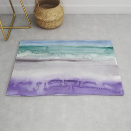 31    190907   Watercolor Abstract Painting Rug