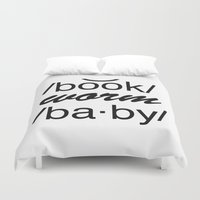 bookworm Duvet Covers featuring Bookworm Baby by book quay
