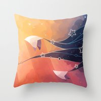 Throw Pillows featuring Nightbringer by Freeminds