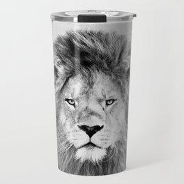Lion 2 - Black & White Travel Mug