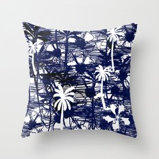 Blue Tree Throw Pillow