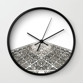 Architecture: Louvre Pyramid Wall Clock