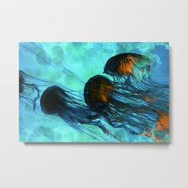 Jellyfish of the Under Sea Volcano Metal Print