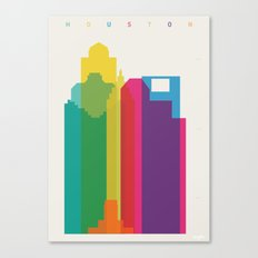 Shapes of Houston. Accurate to scale Canvas Print