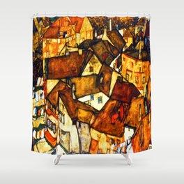 Egon Schiele Yellow City Shower Curtain