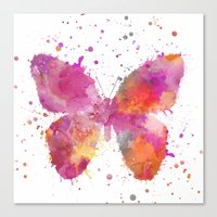 artsy Canvas Prints featuring Artsy Butterfly by LebensART