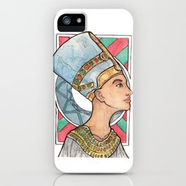 Nefertiti Art Deco Portrait iPhone Case