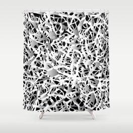 deep structure Shower Curtain