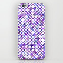 Purple Squared iPhone Skin