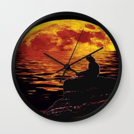 zenlightening moon Wall Clock