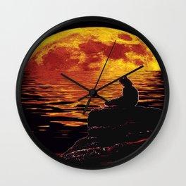 zenlightening moon Wall Clock