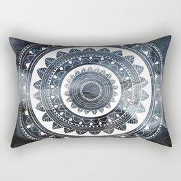 Ukatasana white mandala on sky Rectangular Pillow
