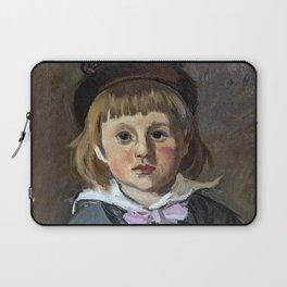 Portrait of his son Jean Monet in a pompom bonnet Laptop Sleeve