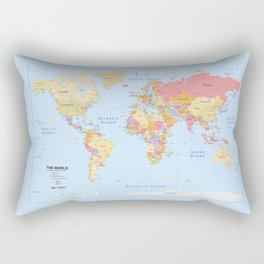 Political Map of The World - I Rectangular Pillow