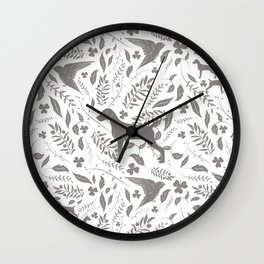 WEIMS AND BIRDS Wall Clock