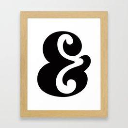 Ampersand Black & White Framed Art Print