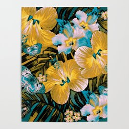 Golden Vintage Aloha Poster