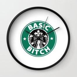 STARBUCKS: BASIC BITCH Wall Clock
