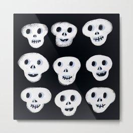 Spooky Halloween skulls Metal Print