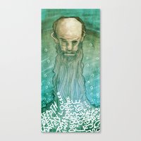 beard Canvas Prints featuring Beard by Lee Grace Design and Illustration