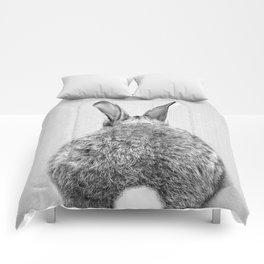 Rabbit Tail - Black & White Comforters