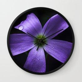 Purple Shamrock Wall Clock