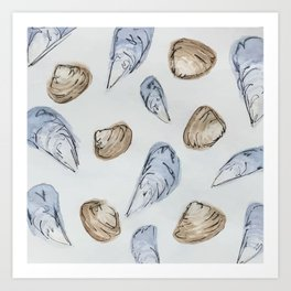 Mussels and Clams Art Print