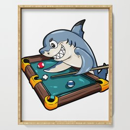 Billiard Pool Snooker Shark Queue Cue Stick Gift Serving Tray