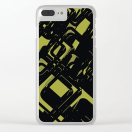 3D Futuristic BG II Clear iPhone Case