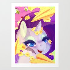 Rarity's mail Art Print