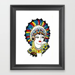 Traditional Tattoo Woman Framed Art Print