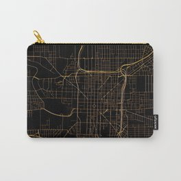 Black and gold Indianapolis map Carry-All Pouch