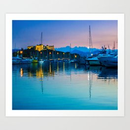 Port Vauban Antibes Art Print