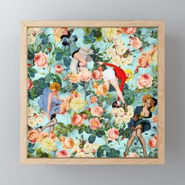 Floral and Pin Up Girls II Pattern Framed Mini Art Print