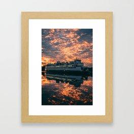 Friday Harbor Ferry Framed Art Print