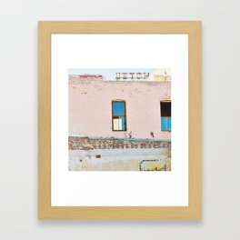 Route 66,Urban Decay, Fine Art Photography, Abandoned Building, Vintage Hotel,Americana Framed Art Print