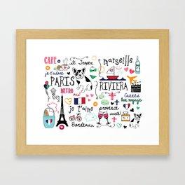 J'Adore France Framed Art Print