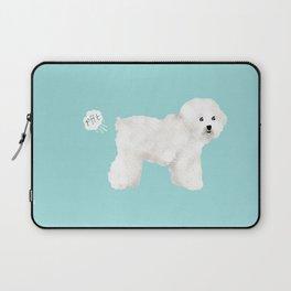 Bichon Frise dog breed funny dog fart Laptop Sleeve